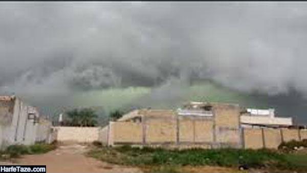 علت ابرهای سبز در آسمان خنج استان فارس