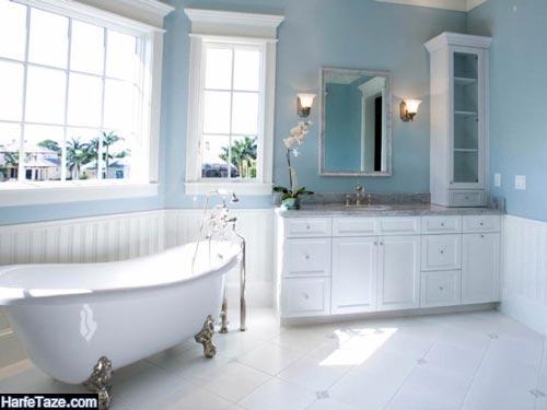 رنگ ابی برای حمام