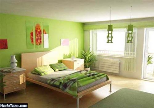 رنگ سبز برای اتاق خواب
