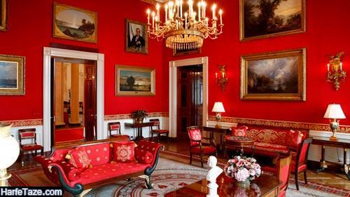 رنگ قرمز برای اتاق پذیرایی