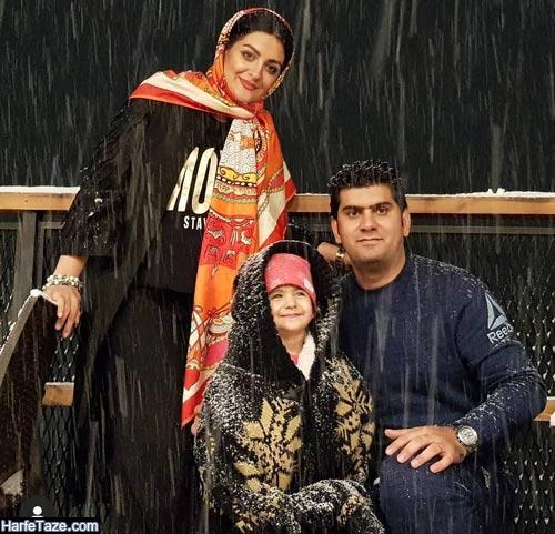 لیلا ایرانی و همسرش