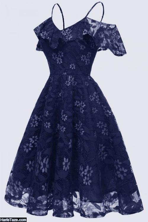مدل جدید لباس مجلسی گیپور 2020 شاین