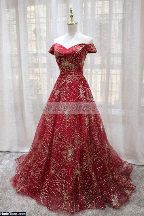 مدل لباس مجلسی گیپور و ساتن 99 - 2020
