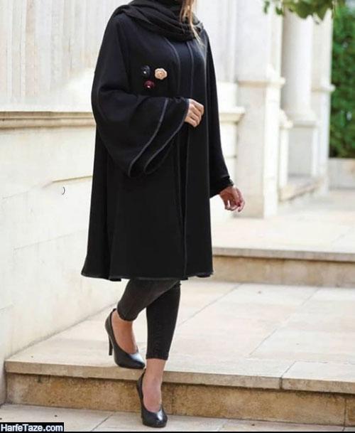 مانتوهای دخترانه شیک با سیاه رنگ