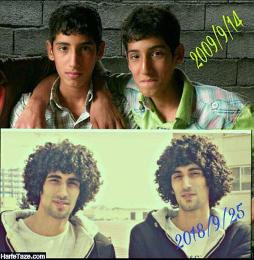 عکسهای نوجوانی و جوانی مصطفی و مجتبی بلال حبشی