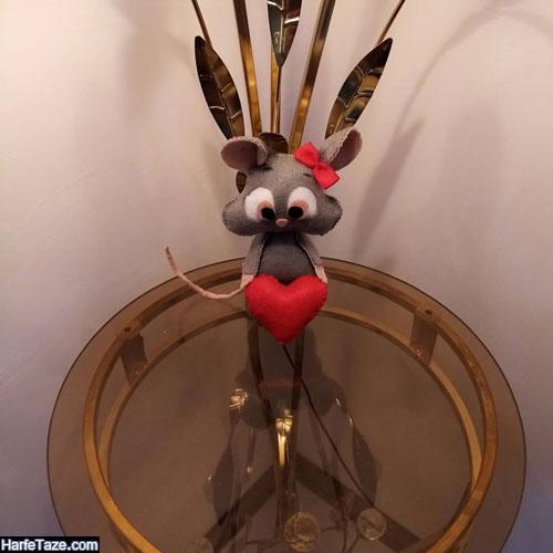 موش عروس و داماد نمدی برای هفت سین عروس