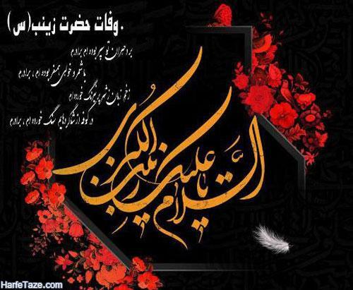 شجره نامه و علت وفات حضرت زینب