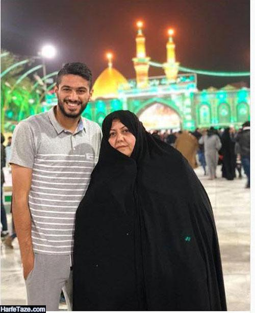 عکس مادر شایان مصلح بازیکن فوتبال