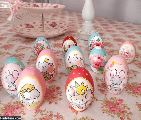 مدل تزیین تخم مرغ به شکل موش ویژه هفت سین 99