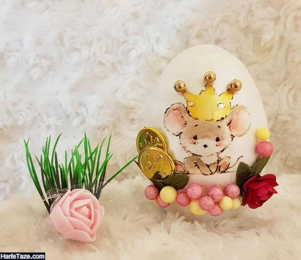 ایده های تزئین تخم مرغ موش برای عید 99