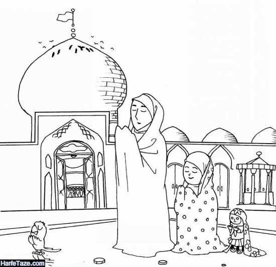 نقاشی ساده درباره ی ماه رمضان