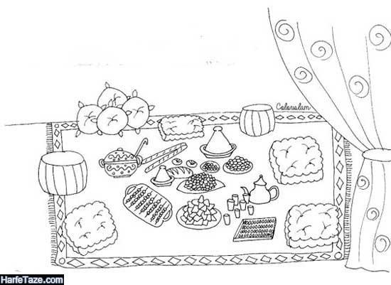 نقاشی درباره ماه رمضان و افطار