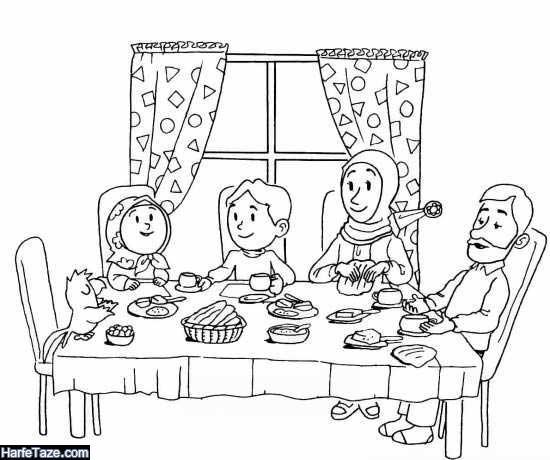 نقاشی ماه رمضان برای بچه ها