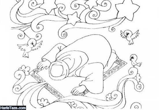 نقاشی نماز خواندن حضرت علی