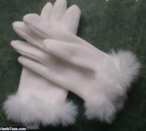 الگوی دستکش پارچه ای نخی
