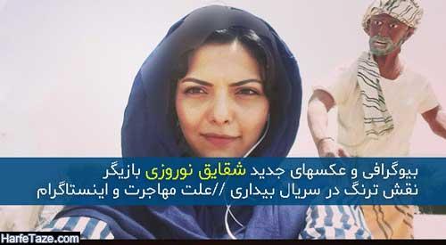 بیوگرافی و عکسهای شقایق نوروزی بازیگر و همسرش