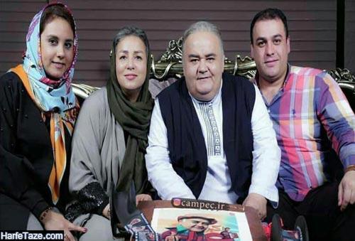 اکبر عبدی و همسرش و دخترش