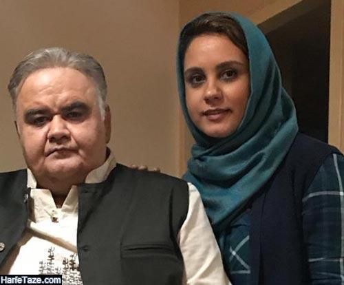 عکس جدید اکبر عبدی و دخترش المیرا