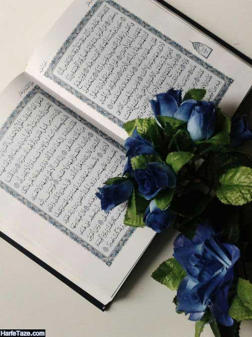 عکس قرآن و گل برای تم گوشی