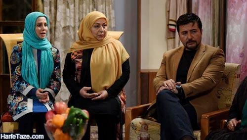 الناز حبیبی و جواد عزتی در سریال دردسرهای عظیم