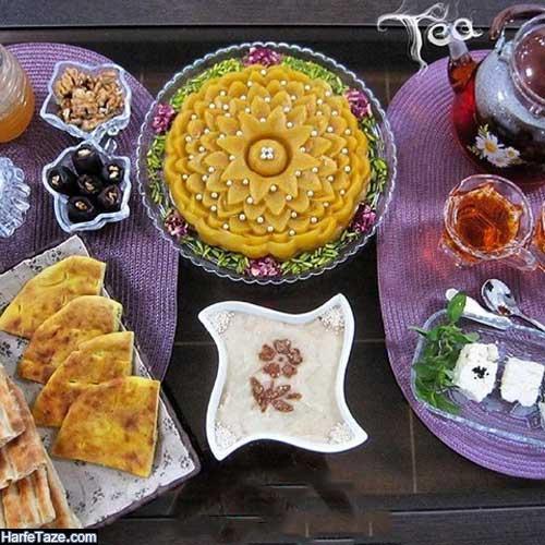 تزیین زولبیا بامیه افطار,سفره آرایی برای سفره رمضان