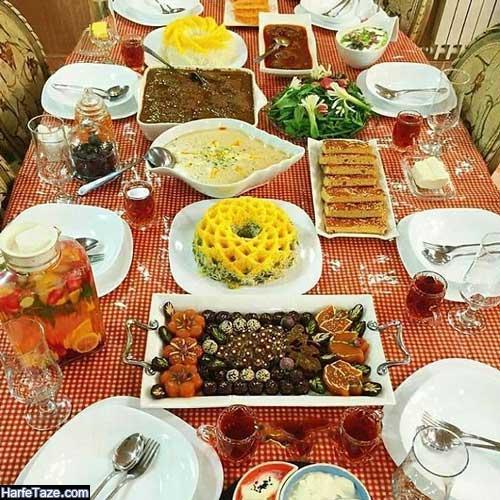 مدل دیزاین میز افطاری ساده برای مهمانی