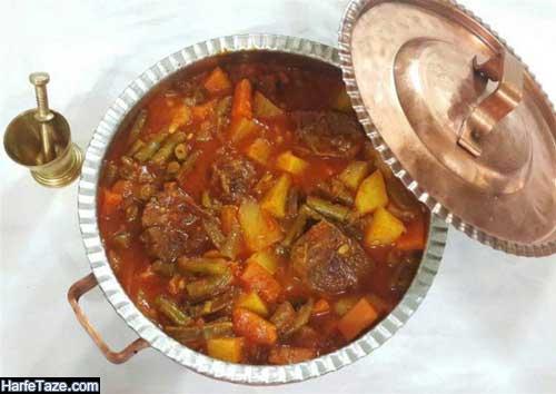 غذای نونی بدون گوشت برای مهمانی