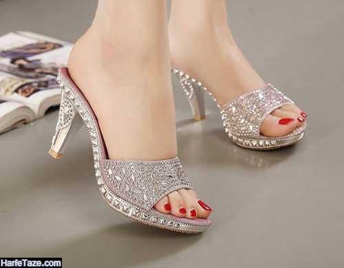 کفش صندل شیک عروس
