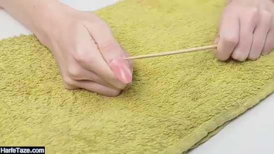 طرز کندن ناخن مصنوعی در منزل