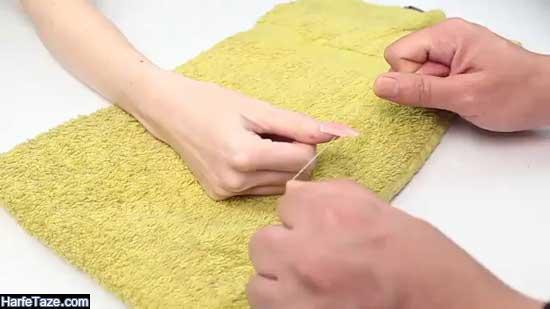 روش دراوردن کاشت ناخن و ناخن مصنوعی درخانه