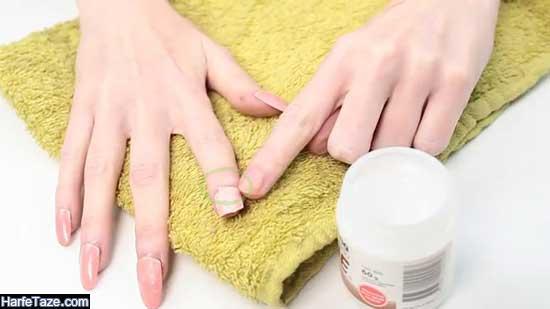 روش برداشتن ناخن مصنوعی در خانگی