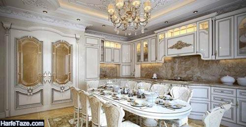 طراحی دکوراسیون آشپزخانه به سبک روکوکو