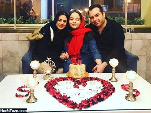 شهرام قائدی و همسر و دخترش