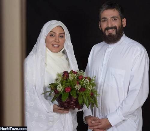 زهرا جهرمی و همسرش