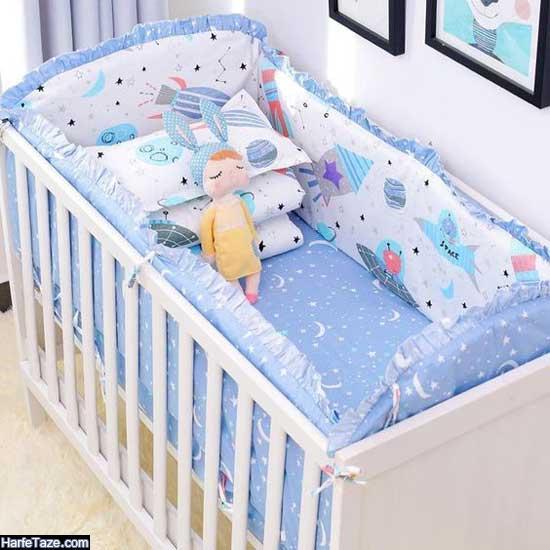 انواع مدل جدید و گوگولی ست سرویس خواب نوزاد