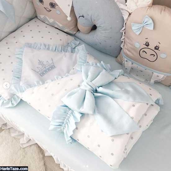 مدل جدید سرویس خواب و لحاف و تشک و بالش نوزاد آپادانا