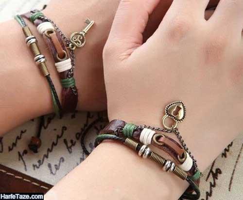 ست دستبندهای چرم مردانه و زنانه 99