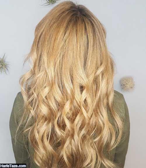 فرمول رنگ مو عسلی روشن