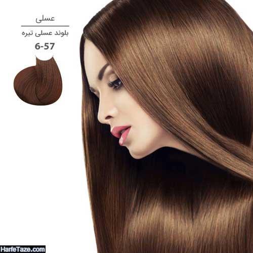 فرمول رنگ مو عسلی بدون دکلره