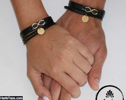 شیک ترین مدل ست دستبندهای چرم ست زنانه و مردانه