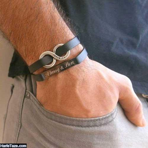 طرح جدید دستبندهای چرمی آقایان