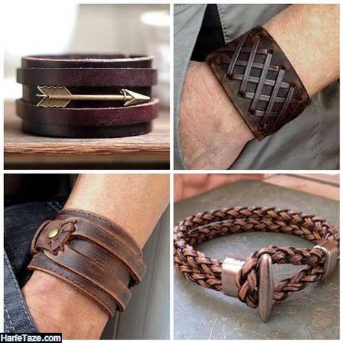 مدل دستبند ترکیبی چرمی و فلزی شیک