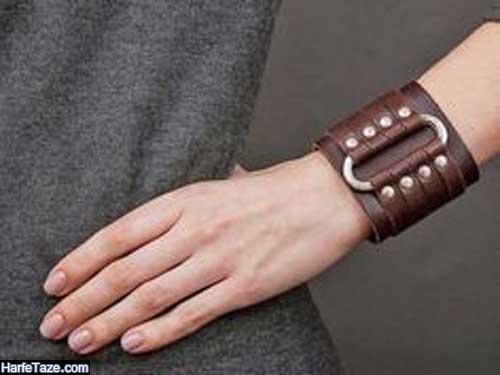 مدل دستبند طلای چرم