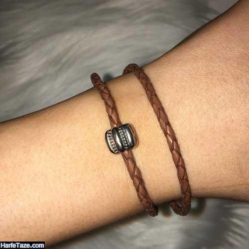 جدیدترین مدل دستبند چرمی بافت