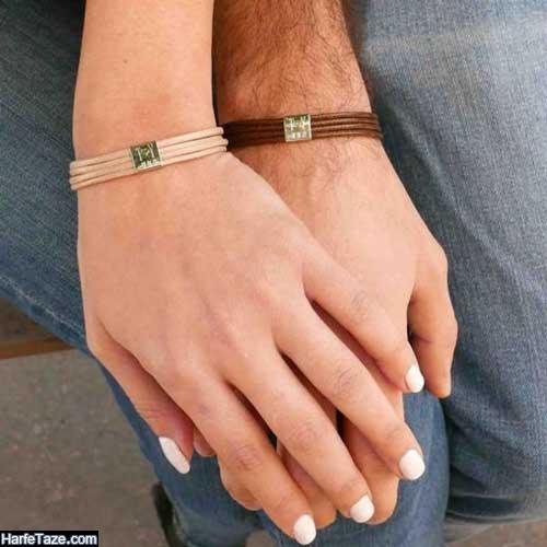 طرح جدید دستبند چرمی پسرانه 99