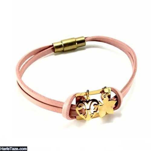 مدل دستبندهای چرمی دخترانه فوق العاده شیک