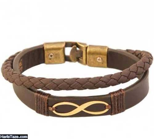 مدلهای دستبند طلا از چرم