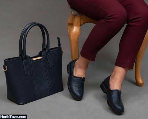 ست کیف و کفش چرم مد سال