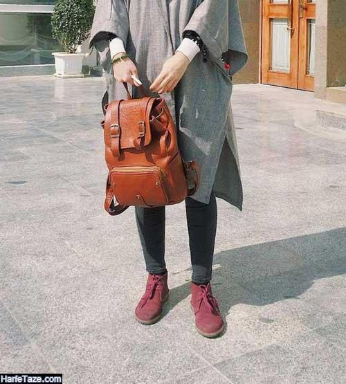 عکس کیف و کفش ست ساده مناسب دانشگاه