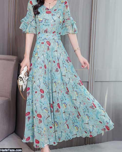 انواع لباسهای تابستانه بلند آستین دار 99